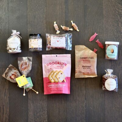 Packaged sweets on a table