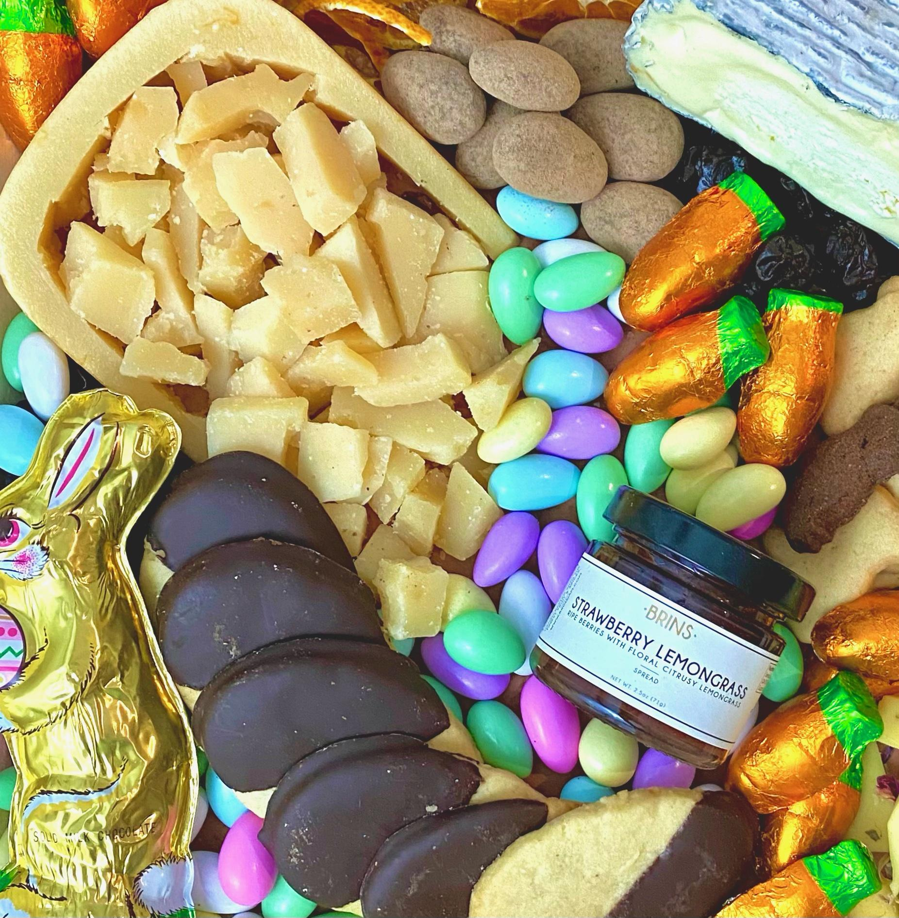 Easter Cheese and Candy Platter