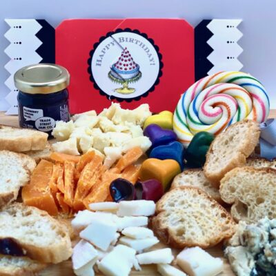 Cheese and Candy birthday platter