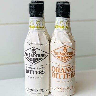 Wrapped bottles of bitters