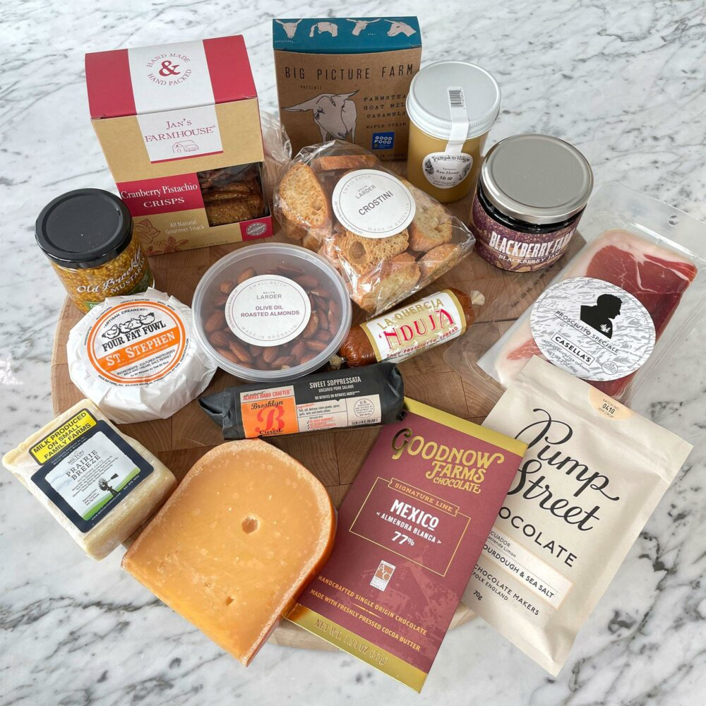 cheese and food display