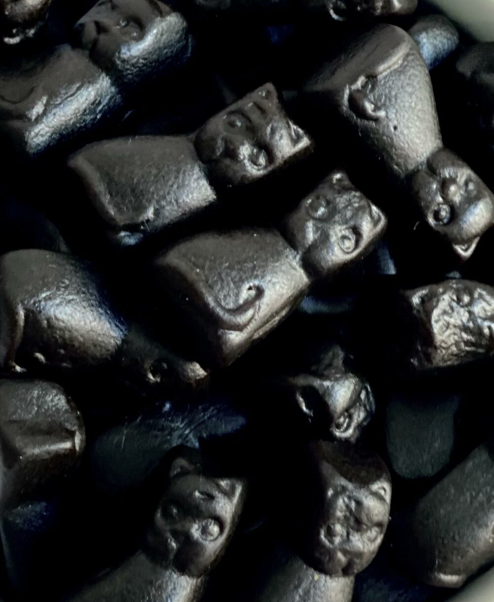 bunch of black licorice cats
