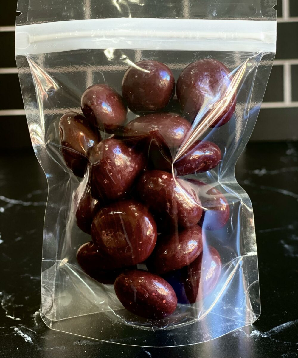 bag of chocolate covered cherries