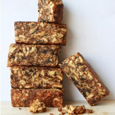 Fig and nut bars stacked