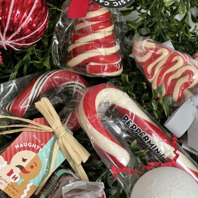 assortment of candy canes